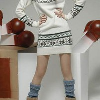 Deer Print Long Slim Jumper