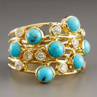 Ippolita - Turquoise &amp; Diamond Constellation Ring - Bergdorf Goodman