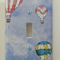 Hot Air Balloon Decorative Light Switch Cover Made by idillard