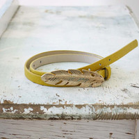 Feathered Journey Belt in Mustard, Sweet Country Inspired Jewelry