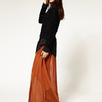 Evil Twin | Evil Twin  Ulterior Motive  Mesh Maxi Skirt at ASOS