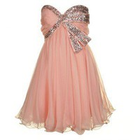 forever unique Womens Pauline Nude Pink Prom Dress - Polyvore