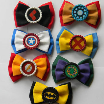Comic Book Inspired Hair Bows