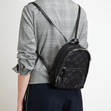 STELLA MCCARTNEY   Quilted Eco-Suede Mini Backpack   Browns fashion & designer clothes & clothing