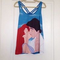 Ariel And Eric Kissing Tank Top From Hot Topic Size Large