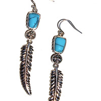 Free as a Bird Earrings - Turquoise