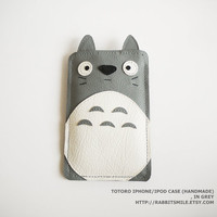 Totoro Iphone Ipod Case  in Grey by rabbitsmile on Etsy