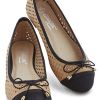 ModCloth All That and Winsome Flat in Beige