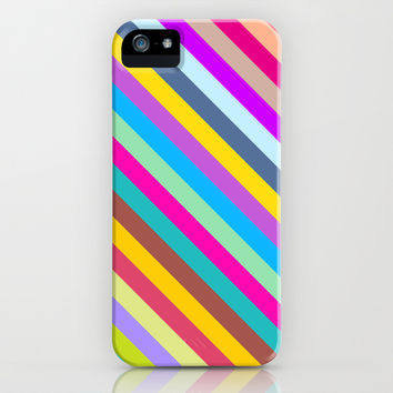 Rainbow Stripes iPhone & iPod Case by Ornaart