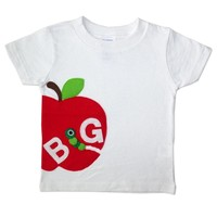 The Big Apple Toddler Shirt: Handmade Felt Appliqued T-Shirt - Also Available in Bodysuit