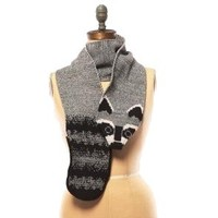 Raccoon Scarf - Matching Hat & Mittens Available