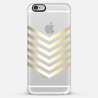 Faux Gold Chevron II on Crystal Clear iPhone 6 Plus case by Tangerine- Tane | Casetify