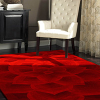 Rugs USA Cenon Floral Transitions Red Rug