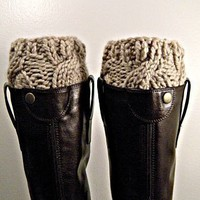 Boot Cuffs chunky knit - Cremini