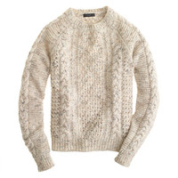 J.Crew Womens Mohoair Pointelle Cable Sweater