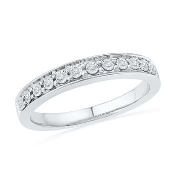 Diamond Accent Anniversary Band in Sterling Silver