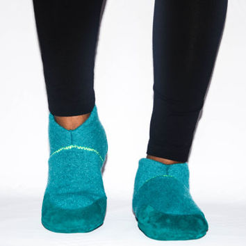 Unisex Cashmere Shoes from Recycled Materials, Eco-friendly Men & Women Cashmere and Leather Shoes. Size: USA Adults 6.5 -16