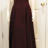 Vintage Dress Bridesmaid Dress Vintage Clothing Eggplant Dress Wine Dress Burgundy Dress Plum Dress Vintage Gown Formal Dress Bridal Party