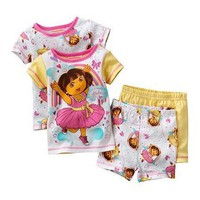 Dora theExplorer Girls Summer Pajama Set