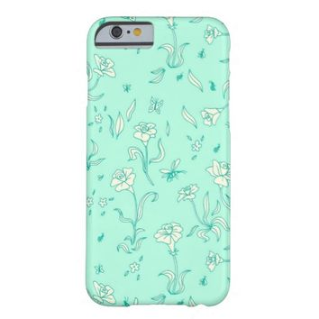 Mint Flowers iPhone 6 Case