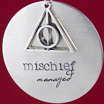 Mischief Managed Ornament - Spiffing Jewelry