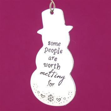 Worth Melting For - Frozen Ornament - Spiffing Jewelry
