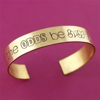 May the Odds Be Ever in Your Favor - Half Inch Cuff Bracelet - Spiffing Jewelry