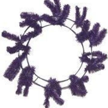 46 Tips Purple Elevated Work Wreath Form