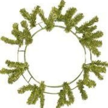 Metallic Lime Green Elevated Work Wreath Form