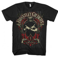 Brantley Gilbert Crossed Arms T-Shirt - Black - Medium - Default