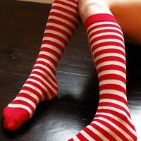Striped Knee High Socks by Leg - Knee High Socks - Socks & Legwear