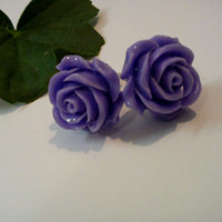 Cabochon Rose flower stud earrings..0.20 cent
