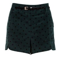Velveteen Green Spot Short