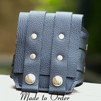 Rustic Leather Wrist Wallet Cuff for Men and Women - MADE TO ORDER