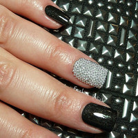 DIY Caviar Nail Beads, Home Manicure - Black or Silver Option