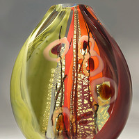 Sedona by Randi Solin: Art Glass Vessel - Artful Home
