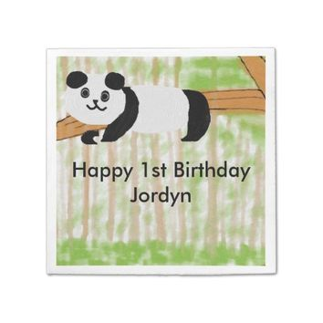 Baby Panda Customizable Party Napkins