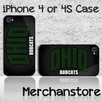 Ohio Bobcats Custom iPhone 4 or 4S Case Cover
