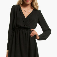 Chip Off Your Shoulder Wrap Dress $53
