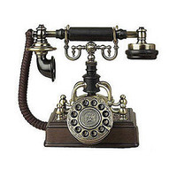 Antique Replica Brass Plated Telephone | Overstock.com - Polyvore