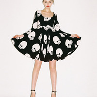 Lazy Oaf | Lazy Oaf | Skull Repeat Skater Dress