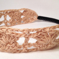 Handmade Crochet &quot;Shelly&quot; Headband for Women/Girls