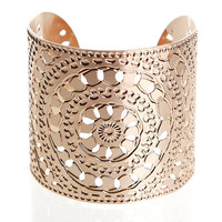 Rose Gold jewelry- rose gold cuff - circles - moroccan jewelry - henna - rose gold bangle