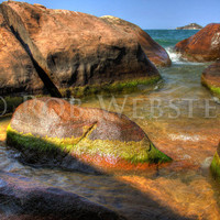 Rocks on the Shore num. 2, HDR 8x10 Fine Art Photo