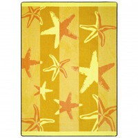Joy Carpets Summer Solstice Starfish Outdoor Rug - 1643 - Striped Rugs - Area Rugs by Style - Area Rugs