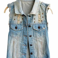 Vintage Lapel Denim Vest$40.00