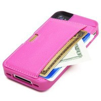 Amazon.com: CM4 Q4-PINK Q Card Case Wallet for Apple iPhone 4/4S - 1 Pack - Retail Packaging - Pink Sapphire: Cell Phones & Accessories