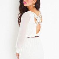 Lily Lattice Dress - Ivory - NASTY GAL