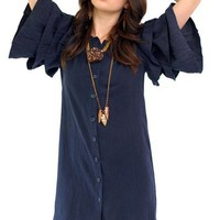 AMERICAN GOLD Spanish Moon Dress - Navy<br />$158