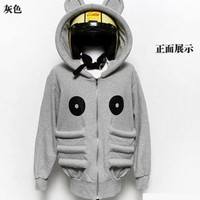 Men New Style Autumn Hood Cartoon Casual Long Sleeve Grey Cotton Hoodie M/L/XL/XXL/XXXL@Q11g $22.49 only in eFexcity.com.